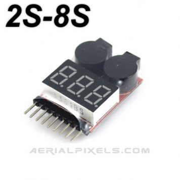 2S to 8S Cell Lipo Battery Tester Alarm