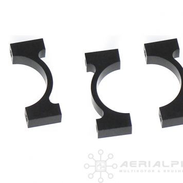 25mm Aluminum Carbon Fiber Boom Clamps Black