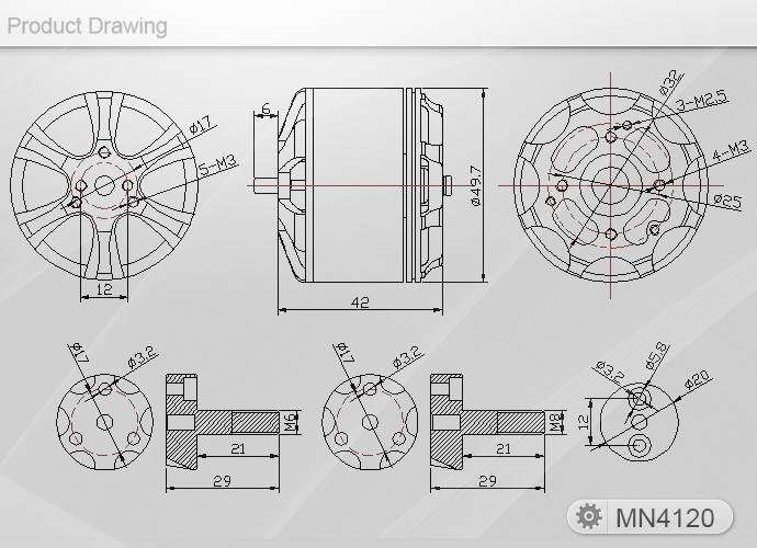 T-Motor MN 4120 400kv