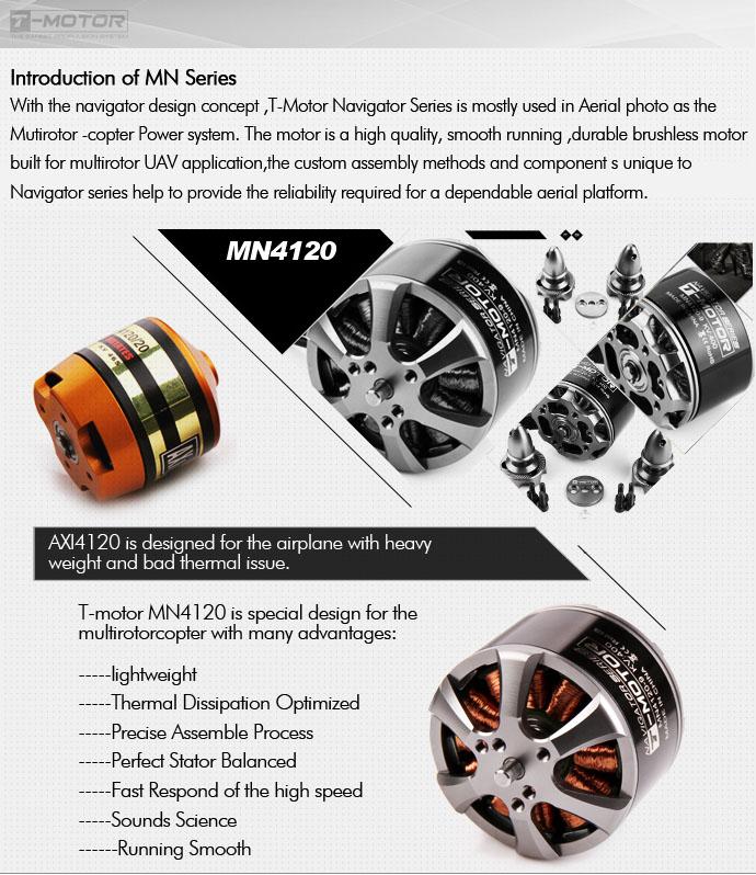 T-Motor Navigator Series MN4120 400kv – RCTIGERMOTOR