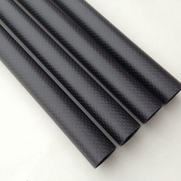 25mm x 23mm x 450mm Highest quality, matte finish 3k carbon fiber tubes for RC multirotors and brushless gimbals.