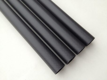 25mm x 23mm x 450mm Highest quality, matte finish 3k carbon fiber tubes for RC multirotors and brushless gimbals.