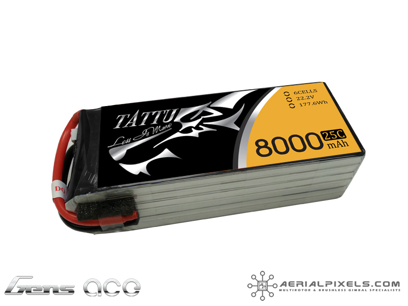 Tattu 8000mah 22 2v 25c 6s1p Battery Aerialpixels