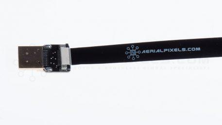 "Black Ultra Thin Micro HDMI to Standard HDMI Flat Ribbon Cable - 11"" 30CM - V2"