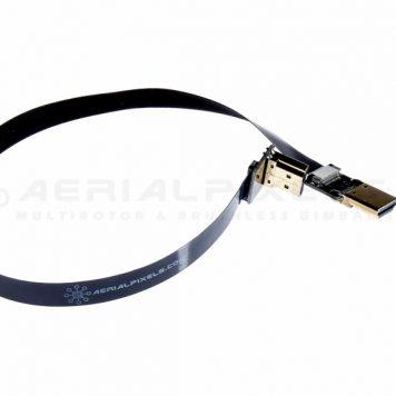 "Black Ultra Thin HDMI Right Angle to HDMI Flat Ribbon Cable - 11"" 30CM - V2"