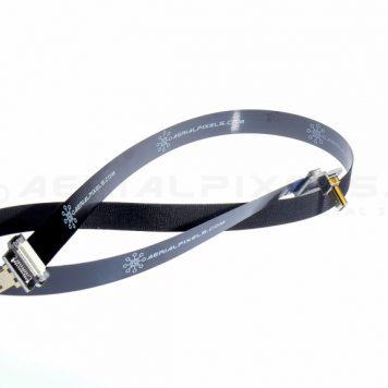 "Black Ultra Thin Micro HDMI to Micro HDMI Flat Ribbon Cable - 15.75"" 40CM - V2"