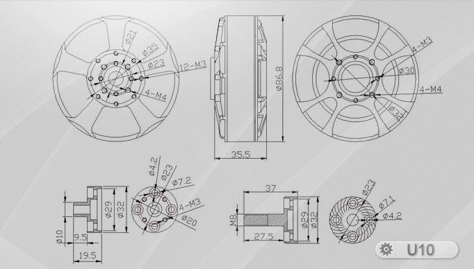 Tiger Motor U10 100KV U-Power Series Motor