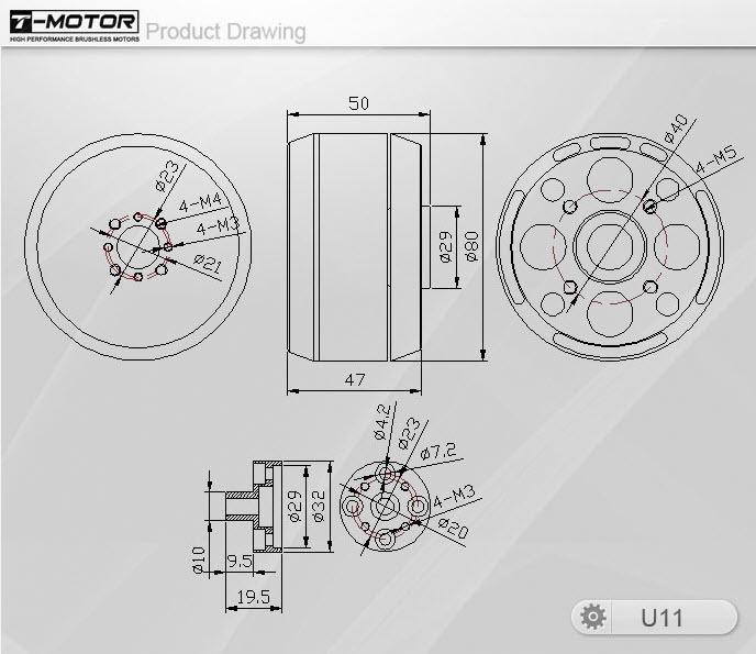 Tiger Motor U11 120KV U-POWER Series Motor