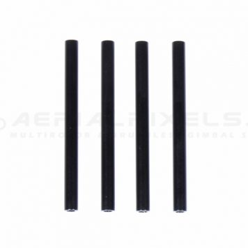 M3 60MM Aluminum Round Standoff - Spacer Black X 4