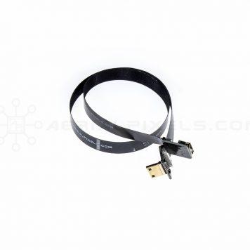 "Ultra Thin HDMI Cable Mini Right Angle to HDMI Mini Female Flat Ribbon Cable - 40CM (15.7"")"