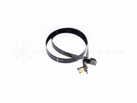 "Ultra Thin HDMI Cable Mini Right Angle to HDMI Mini Female Flat Ribbon Cable - 50CM (19.6"")"