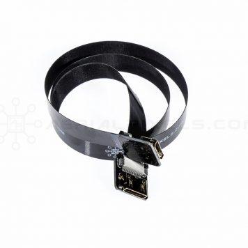 "Ultra Thin HDMI Cable Mini Female to HDMI Mini Female Flat Ribbon Cable - 40CM (15.7"")"
