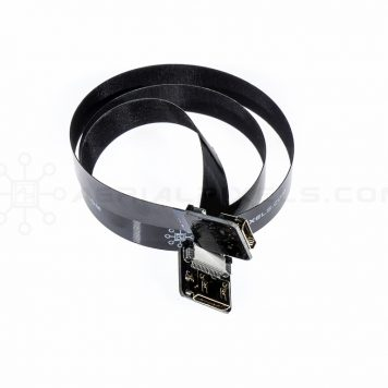"Ultra Thin HDMI Cable Mini Female to HDMI Mini Female Flat Ribbon Cable - 50CM (19.6"")"