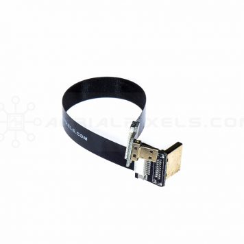 "Ultra Thin HDMI Cable Micro to HDMI Standard Right Angle Flat Ribbon Cable - 15CM (5.9"")"