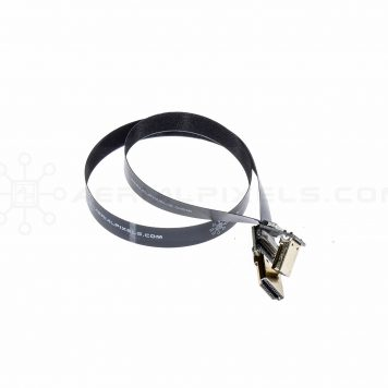 "Ultra Thin HDMI Cable Standard to HDMI Standard Right Angle Flat Ribbon Cable - 50CM (19.6"")"