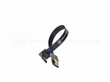 """Ultra Thin HDMI Cable Standard to HDMI Standard Right Angle Flat Ribbon Cable - 15CM (5.9"""")"""