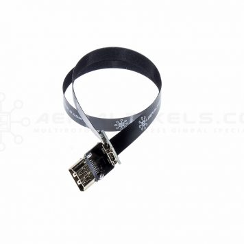 "Ultra Thin HDMI Female to Mini HDMI Female Flat Ribbon Cable - 40CM (15.7"")"