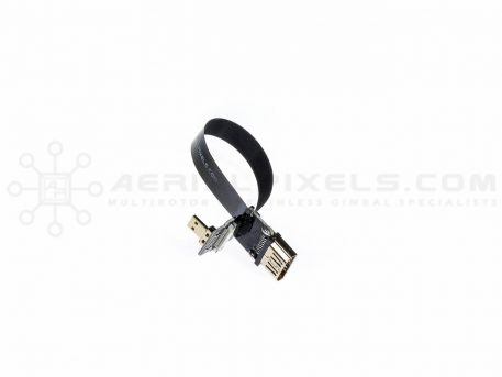 """Ultra Thin HDMI Cable Micro to HDMI Standard Female Flat Ribbon Cable - 15CM (5.9"""")"""