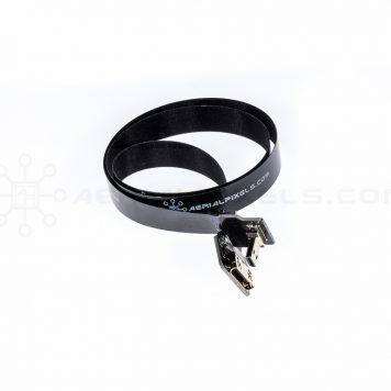 "Ultra Thin HDMI Cable Micro to HDMI Mini Female Flat Ribbon Cable - 40CM (15.7"")"