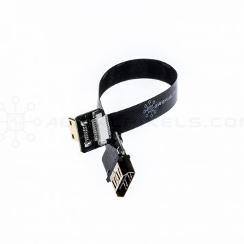 "Ultra Thin HDMI Cable Standard Female to HDMI Mini Flat Ribbon Cable - 15CM (5.9"")"