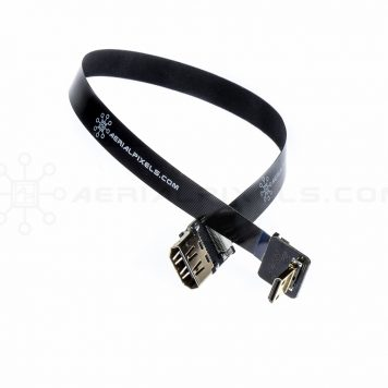 "Ultra Thin HDMI Cable Standard Female to HDMI Mini Flat Ribbon Cable - 30CM (11.8"")"