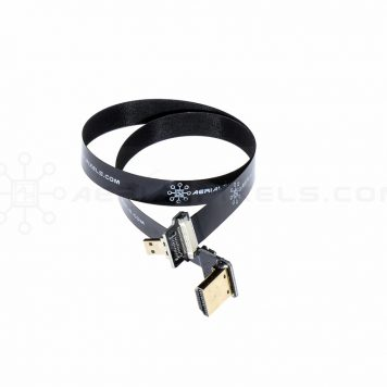"Ultra Thin HDMI Cable Micro to HDMI Standard Right Angle Flat Ribbon Cable - 40CM (15.7"")"