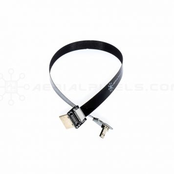 "Ultra Thin HDMI Cable Micro to HDMI Standard Right Angle Flat Ribbon Cable - 30CM (11.8"")"