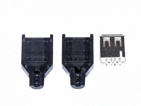USB Type A Female DIY Connector