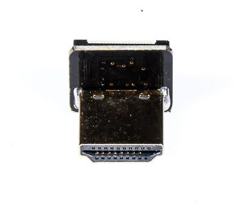 HDMI Standard (Type A) Male Right Angle Connector Reversed