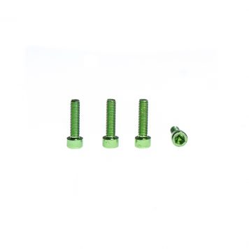 M3 x 8MM Aluminum Socket Cap Head Metric Screws - Green (4pcs)