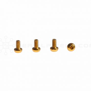 M3 x 6MM Aluminum Socket Button Head Metric Screws – Gold (4pcs)