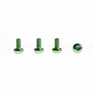 M3 x 6MM Aluminum Socket Button Head Metric Screws – Green (4pcs)