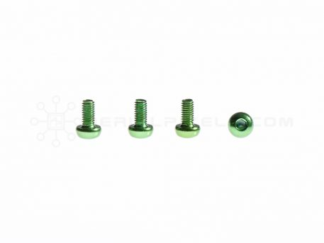 M3 x 6MM Aluminum Socket Button Head Metric Screws – Green (4pcs)
