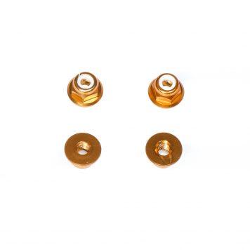 M3 Aluminum Flange Lock Nut - Gold (4pcs)