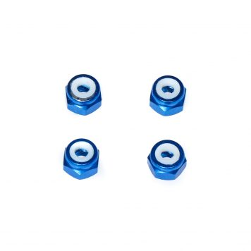 M3 Aluminum Lock Nut - Blue (4pcs)