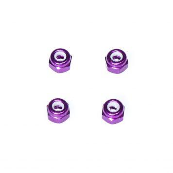 M3 Aluminum Lock Nut - Purple (4pcs)