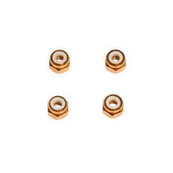 M3 Aluminum Lock Nut - Gold (4pcs)