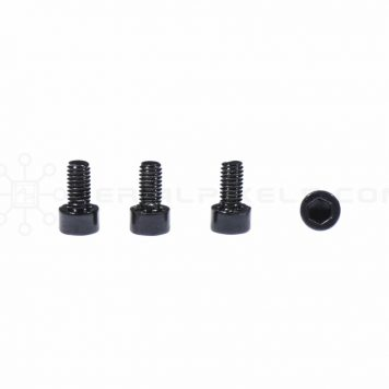 M3 x 6MM Stainless Steel Socket Cap Head Metric Screws – Black (4pcs)
