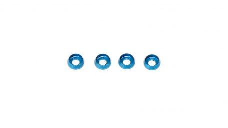 M3 x 7 x 2.5MM Countersink Washers for Cap Head Screws - Blue (4pcs)