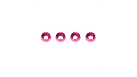M3 x 7 x 2.5MM Countersink Washers for Cap Head Screws - Pink (4pcs)