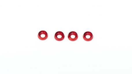 M3 x 7 x 2.5MM Countersink Washers for Cap Head Screws - Red (4pcs)