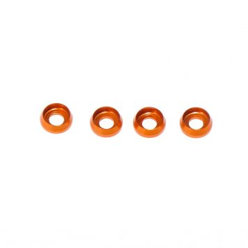 M3 x 7 x 2.5MM Countersink Washers for Cap Head Screws - Orange (4pcs)