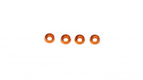 M3 x 7 x 2.5MM Countersink Washers for Cap Head Screws - Orange (4pcs)
