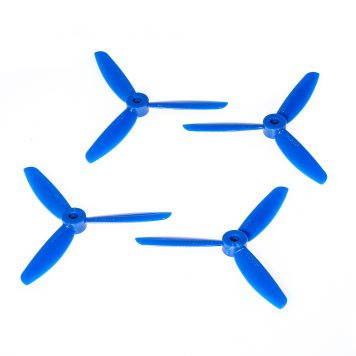 "DAL TJ4045 4x4.5"" Tri-Blade Props ""Indestructible"" - Blue - (Set of 4)"