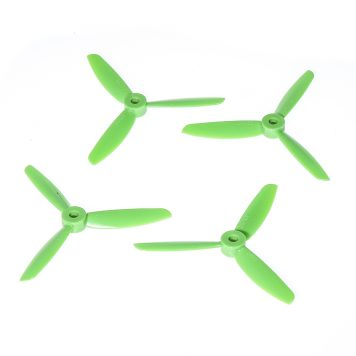 "DAL TJ4045 4x4.5"" Tri-Blade Props ""Indestructible"" - Green - (Set of 4)"