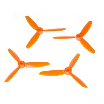 "DAL TJ4045 4x4.5"" Tri-Blade Props ""Indestructible"" - Orange - (Set of 4)"