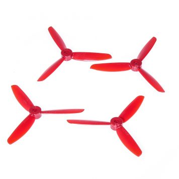 "DAL TJ4045 4x4.5"" Tri-Blade Props ""Indestructible"" - Red - (Set of 4)"