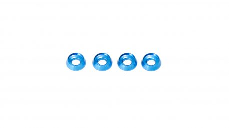 M3 x 8 x 2.5MM Countersink Washers for Button Head Screws - Blue (4pcs)