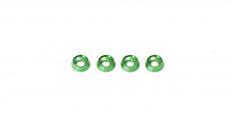 M3 x 8 x 2.5MM Countersink Washers for Button Head Screws - Green (4pcs)