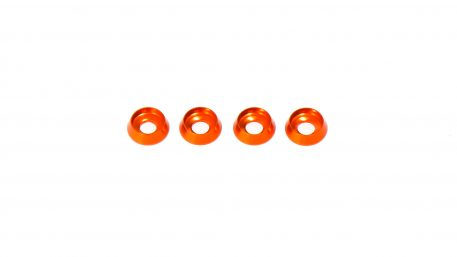 M3 x 8 x 2.5MM Countersink Washers for Button Head Screws - Orange (4pcs)